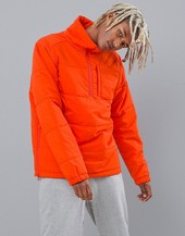 66 North Holar Primaloft High Collar Insulation Anorak In Orange