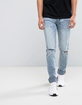 Sixth June Skinny Fit Jeans In Lightwash Blue