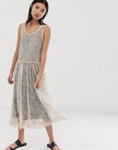Selected Femme Printed Mesh Midi Dress-multi
