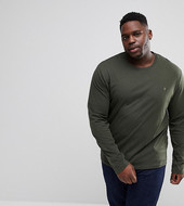 Farah Farris Slim Fit Long Sleve T-shirt In Green Exclusive At Asos