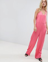 Pieces Wide Leg Jumpuit-pink