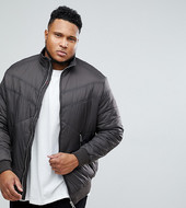 Replika Plus Puffer Bomber Jacket-grey